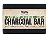 Keika Naturals Charcoal Soap Bar with Shea Butter for Face Acne Blackheads Eczema Psoriasis | All-Natural....
