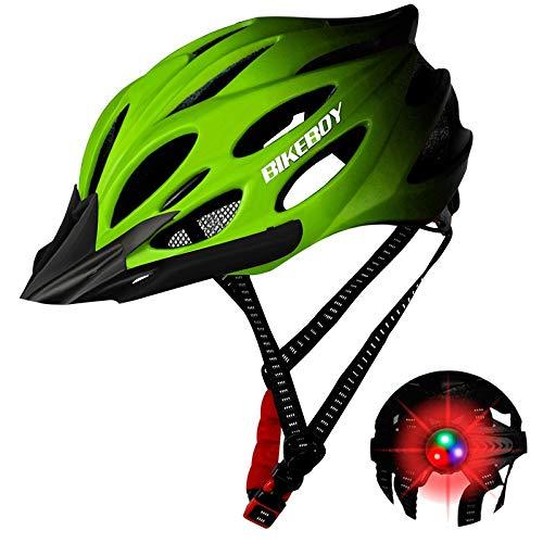 MTB Fahrradhelm Helm Bike Fahrrad Radhelm FüR Herren Damen Helmet Urban Fahrradhelm für Erwachsene Einfarbig Hohe Qualität Rennhelm (A-Grün)