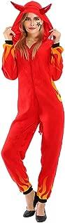 Women's Devil Halloween Costume Onesie Pajama Demon Jumpsuit