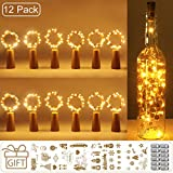 (12 Stück) Flaschenlicht Batterie, kolpop 2m 20 LED Glas Korken Licht Kupferdraht Lichterkette für...