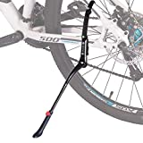 Caballete lateral para bicicleta, universal, aleación de aluminio, soporte de goma antideslizante, para bicicletas de 24, 26, 27,5, 28 y 29 pulgadas, altura ajustable