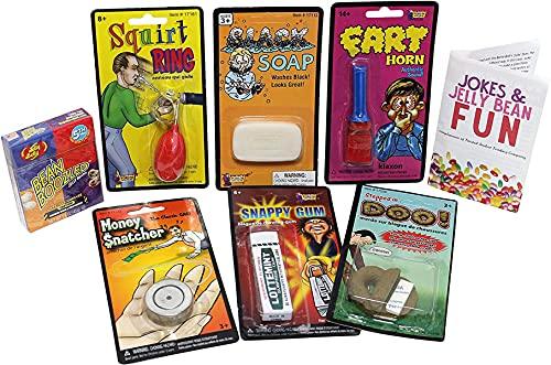 Pranks and Practical Jokes For Kids - 7 Pc Practical Joke Kit Gift Set for Kids - Jelly Belly Bean...