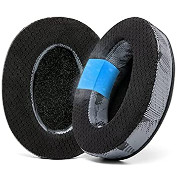 WC Freeze Hybrid Fabric Cooling Gel Replacement Earpads for ATH M50X - Compatible with ATH M40X / M50XBT / Hyper X Cloud 1 & 2 / SteelSeries Arctis 3/5 / 7 / 9X & Pro/Stealth 600 & More  Anthracite
