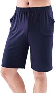 Zhhlaixing Mens Comfy Lounge Shorts Pyjama Bottoms Nightwear Loungewear PJs Sleepwear Lounge Wear Pyjama Shorts