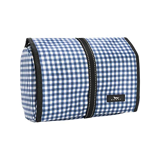 SCOUT Beauty Burrito Hanging Toiletry Travel Bag, Large Water-Resistant Cosmetic and Toiletries Organizer with Elastic Band Closure (Multiple Patterns Available)
