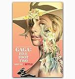 qianyuhe Druck auf Leinwand Wandkunst Bilder Lady Gaga Five