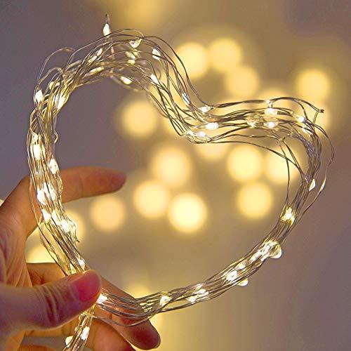 Cadena de luces LED Luces navideñas de hadas Linternas Guirnalda navideña Decoración Cuerdas de luz A1 5m50 leds usb