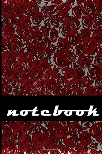 The Red flowers Notebook: Compact 6