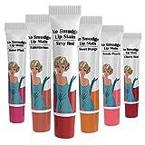 Valra Cosmetics No Smudge, Waterproof, Peel Off Lip Stain Gel - Six Pack