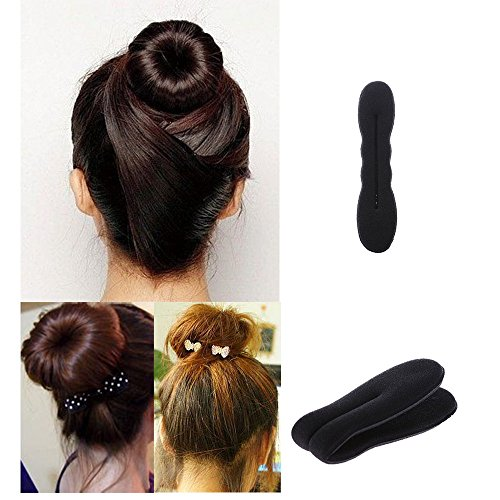 Éponge chignon cheveux Donut Twister machine à mousse anciens outils + 10 élastiques + 10 barettes par Boolavard® TM