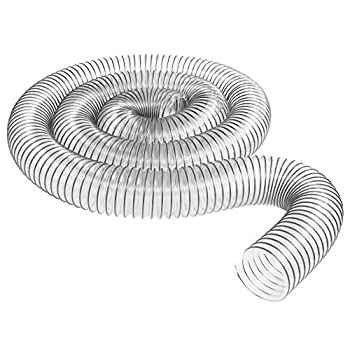 4 inch diameter x 10 foot long Ultra Flex Clear Vue Heavy Duty PVC Dust Debris and Fume Collection Hose MADE IN USA!