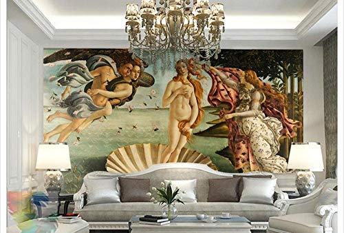 MINCOCO Maßgeschneiderte 3D-Tapeten 3D-Wandbilder Die Geburt der Venus Super-Riesen-Tapeten für europäische Gemälde, 200x140 cm (78.7 by 55.1 in)