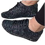 Dasongff Zapatillas de deporte para mujer, para correr, con brillantes, con cordones, acolchadas, transpirables, ligeras, para correr, fitness, gimnasio, exteriores