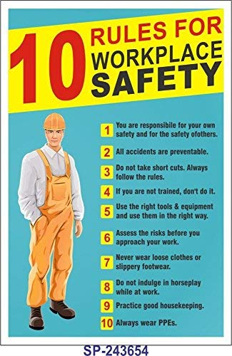 Signageshop Sp-243654 10 Rules For Workplace Safety Poster