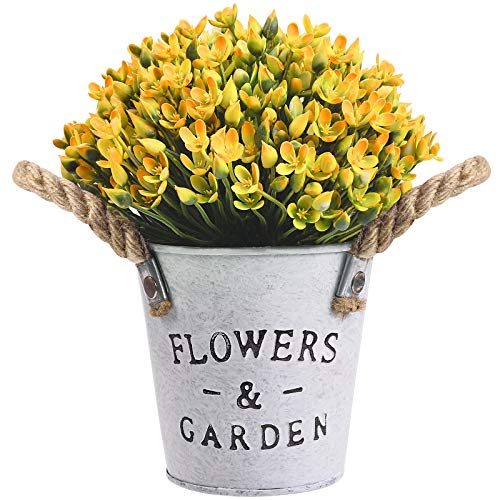 OUIVIAL Artificial Potted Plants - Medium Potted Plants Fake Plastic Flower...