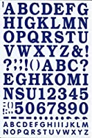 (シャシャン)XIAXIN 防水 PVC製 アルファベット ナンバー ステッカー セット 耐候 耐水 ローマ字 数字 キャラクター 表札 スーツケース ネームプレート ロッカー 屋内外 兼用 TS-533 (1点, ネイビー)