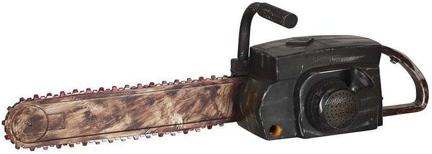 Amazon Com Halloween Chainsaw Prop Animated Chainsaw Makes Realistic Sounds And Chain Moves By Gemmy Clothing