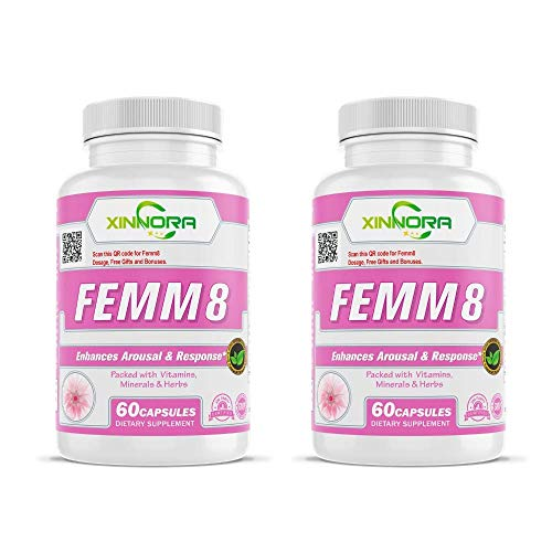 Xinnora Femm8 Libido Enhancer for Women with Ginseng, Pure Horny Goat Weed, Tongkat Ali, Tribulus Terrestris, Maca Root for Better Physical Performance, Extra Strength & Energy - 60 Caps (2)