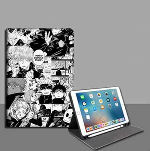 Compatible con Fundas para iPad,iPad Niños Regalos Animación Batalla De Maldición Anti Caída Funda para Tableta Book Style with Pen Slot iPad Air 1 / 2