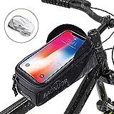 Fahrrad Rahmentasche Baonuor Fahrrad Handytasche für iPhone 7 Plus/6s Plus/6 Plus/Samsung s7 edge andere bis zu 6 Zoll Smartphones, Wasserabweisende Fahrrad Lenkertasche