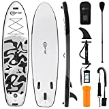 PORTAL SUP Inflatable Stand up Paddle Board 10'x32 x6 for Adults with ISUP Accessories & Backpack, Non-Slip Deck, Leash, Hand Pump, Adjustable Paddle, Fin, Repair Kit, Waterproof Phone Bag
