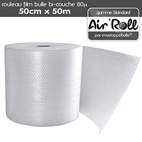1 Rouleau de film bulle d'air 50cm x 50m