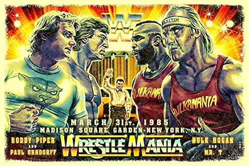 Wrestlemania 1985 Poster/professional wrestling matches artwork