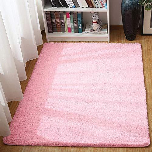 AOI Alfombras Ultra Suaves para Interiores, Interiores y Suaves Alfombras de Sala de Estar aptas para niños Dormitorio Decoración para el hogar Alfombras de Dormitorio 60 * 120 cm (Rosa)