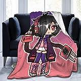 Shichangwei Gacha Life Manta de franela ligera para dormitorio sala de estar sofá de felpa borrosa colcha ropa de cama divertido regalos