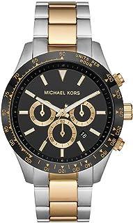 Michael Kors Layton Men's Black Dial Stainless Steel Analog Watch - MK8784