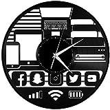 xiaoxong658 Disco De Vinilo Reloj De Pared Geek Gadget Vinilo Arte De La Pared Reloj Decoración Diseño Decoración De Las Mujeres 30 × 30 Cm