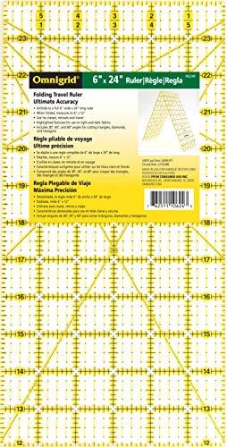Omnigrid Folding Ruler, 6 x 24-Inch, Clear