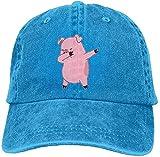 Photo de dooba Men Women Pig Dabbing Denim Jeanet Baseball Hat Adjustable Dad Hat par