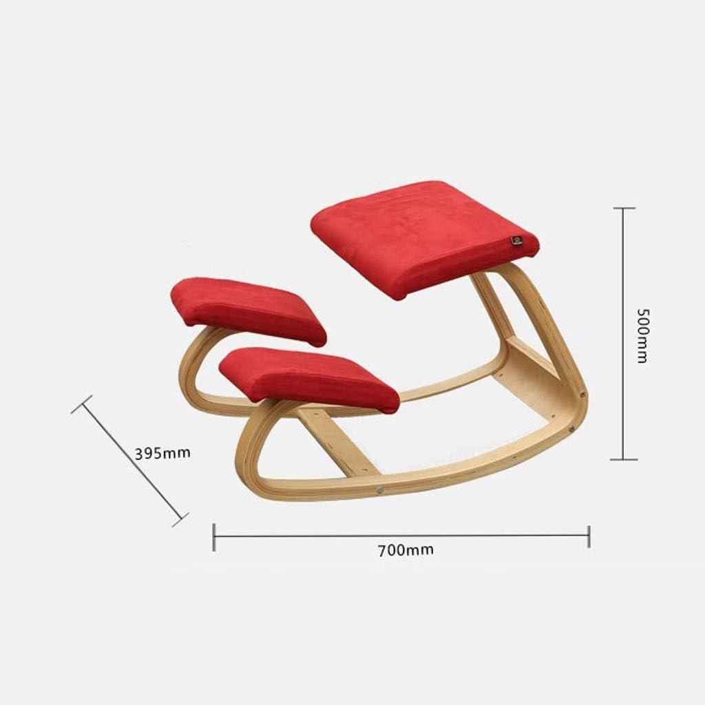 Xiaoxiao Ergonomique Genoux Genoux Tabouret, Chaise à bascule Chaise Genoux Accueil Balcon Simple et élégant chaises à genoux (Color : A) B