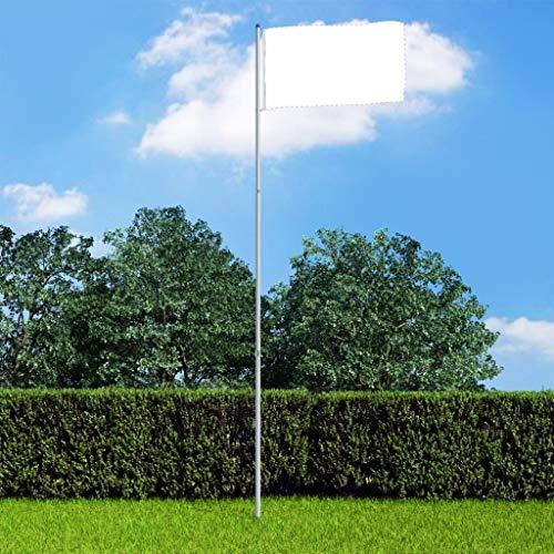 Festnight Asta de Bandera Telescópica de Aluminio Mástil para Bandera 6 m