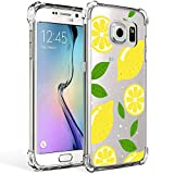 Galaxy S7 Case Clear with Lemon Design Shockproof Protective Case for Samsung Galaxy S7 5.1 Inch Cute Summer Fruit Yellow Pattern Flexible Soft Slim Rubber Floral Cell Phone Back Cover for Girls Women