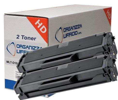 Organizza Ufficio 2pz x Toner per Samsung D101S, I-MLT-D101S, ML2160, ML2165W, SCX-3400-F, 3405-F-Fw, SF760, Durata 1.500 pagine.