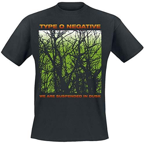 Type O Negative Suspend In Dusk Hombre Camiseta Negro XL, 100% algodón, Regular