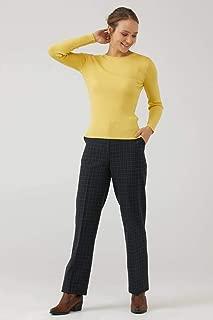 Kadın Sıfır Yaka Derbili Basic Triko Kazak - Sarı