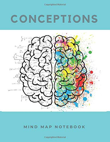 Conceptions: a Mind mapping and Hexagon grid notebook, large (8.5 x 11 inches) 100 pages