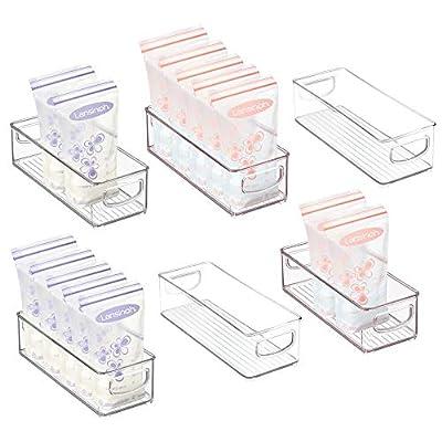 mDesign Storage Organizer Bin for Breast Milk/Formula from