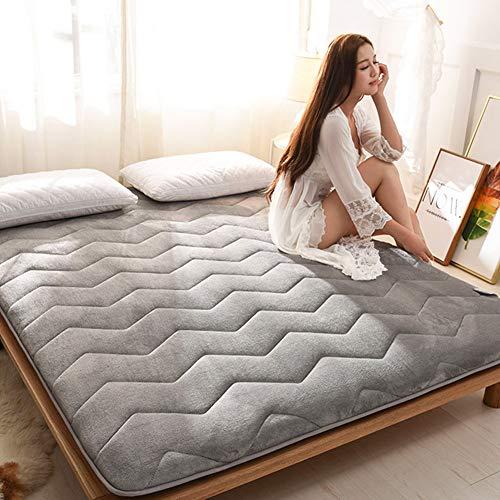 Futon Matratze Topper Boden Isomatte Weiche Japanische Faltbare Dicke Faltbare Matte,Gray,150 * 200cm/59 * 79inch