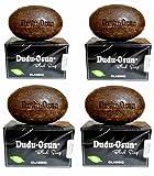 Dudu-Osun - 4x150g BIOLOGICO, sigillato igienicamente e confezionato singolarmente - Sapone nero CLASSIC| Sapone Nero Africano| Sapone da campeggio, doccia, barba e viso| con karitè e aloe vera [600g]