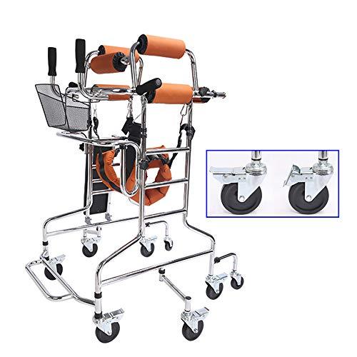 XYL Caminar Equipo Auxiliar, Andador de pie Rollator para Ancianos, Barra de Equilibrio para Soporte de infusión, con Almacenamiento