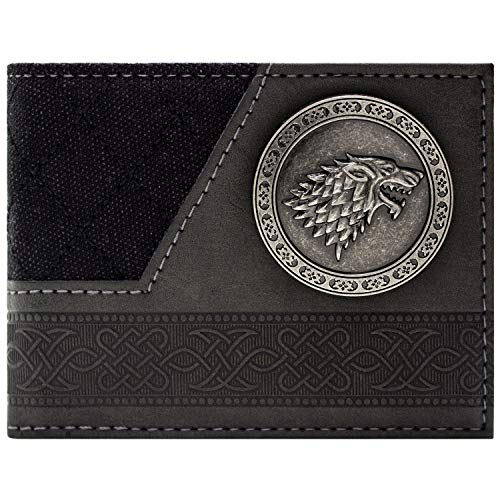Cartera de Game of Thrones Casa Stark Dire Lobo Negro