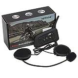 vnetphone V6 Waterproof Full Duplex 2-Way Audio Motorcycle Bluetooth Intercom Headset with Advanced