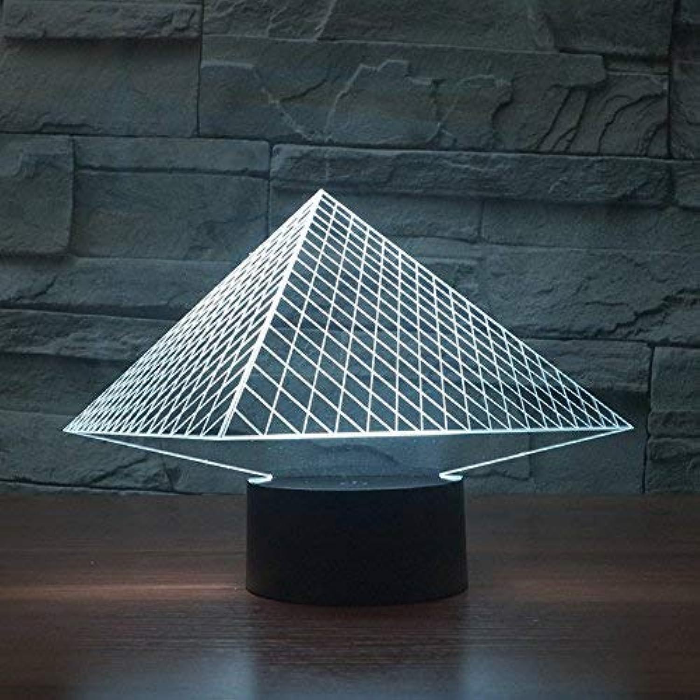 3D Nachtlicht Visuelles 3D-Stereolicht, Touch Home-Nachtlicht, kreative LED-Schreibtischlampe, 155X224X87 (mm), USB-Touch-Basis LED-Lichtquellen (Farbe   Rechargeable Battery Touch Base)
