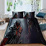 Superhero,Deadpool and Venom Movie Poster Print Duvet Cover Set for Boys Bed Set Soft Breathable Durable Duvet Cover Comforter Cover(Not Including Comforter) Queen Size(Microfiber Fabric)