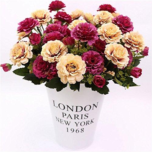 wlgreatsp Gefälschte Blume Dekorieren Künstliche Pfingstrose Simulationsanlage Restaurant Ornament Geschenk Seide Schön
