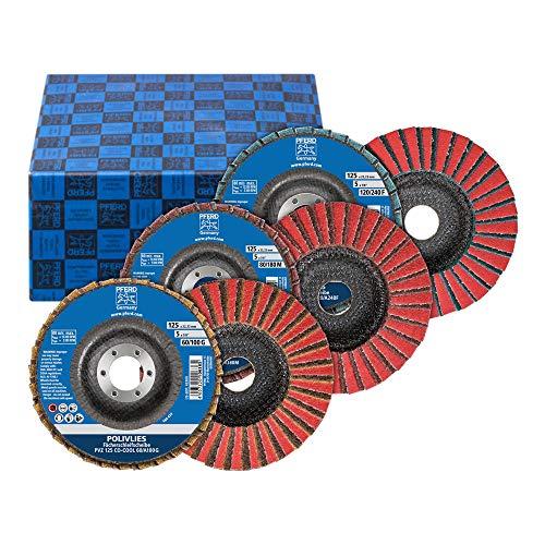 PFERD 44698006 POLIVLIE fackbrickor set PVZ, 3 st.   keramik Ø 125 mm borrdiameter 22,23 mm CO 60/G, 80/M, 120/F   för finslipning, korund A/C0-COOL